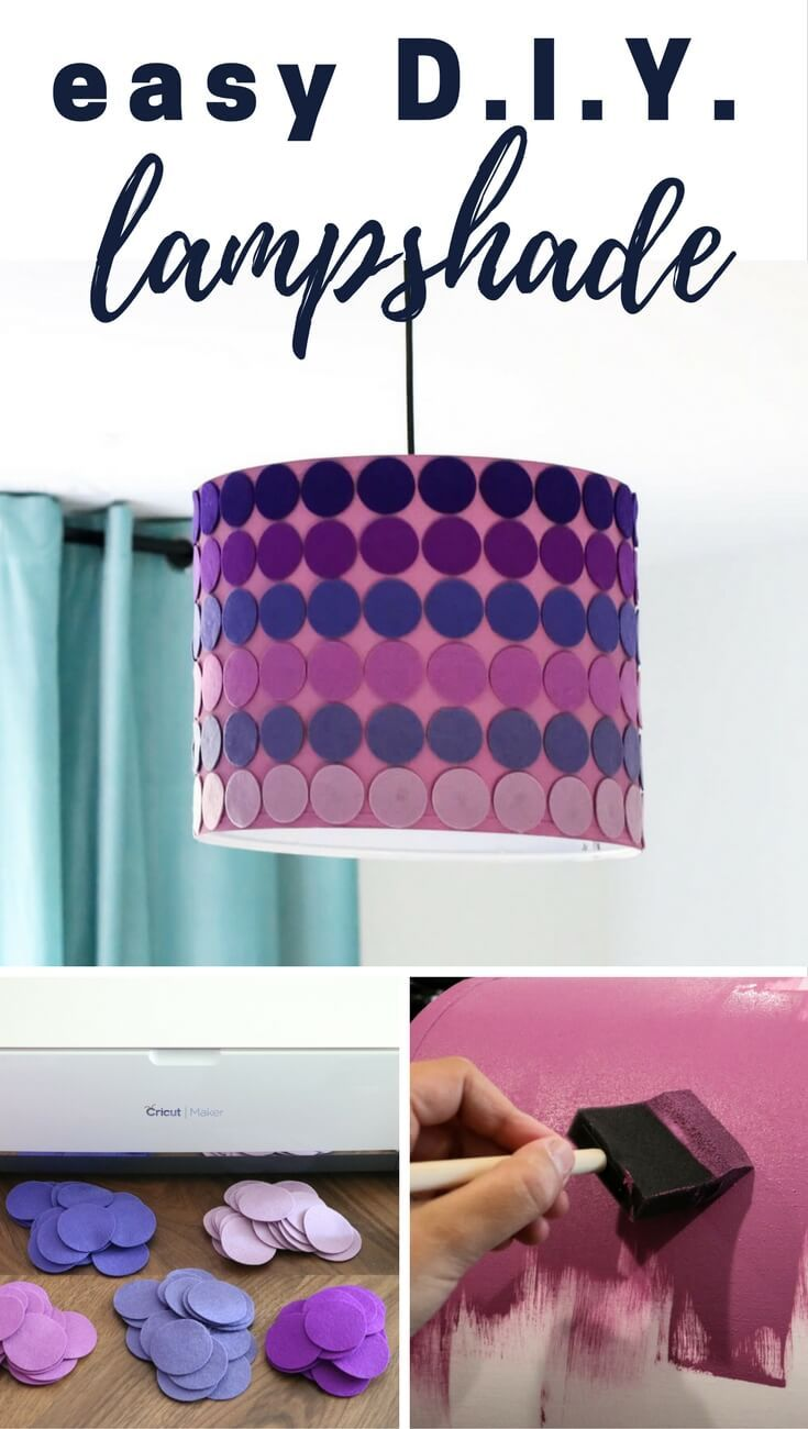 Easy DIY lampshade tutorial. #DIY #lampshade