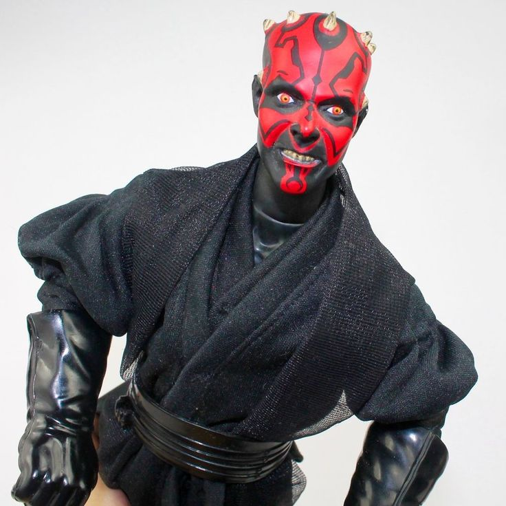 "STAR WARS 12"" Action Figure DARTH MAUL w/ Double Bladed Lightsaber 1993 Hasbro #Hasbro"