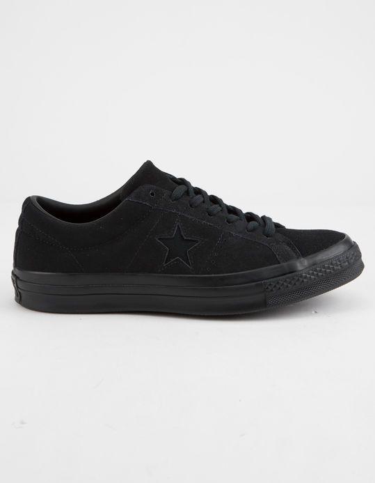 81a7c0a8bd1 CONVERSE One Star Ox Premium Suede Black Low Top Shoes