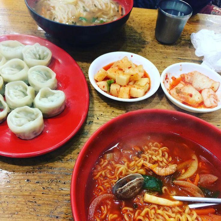 Ramen and dumplings.