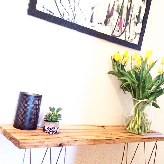 WOOD   DEN ✖️ NOW THAT'S A HALL TABLE 🔨👌 OUR RECYCLED TIMBER SHELF LOOKING MIGHTY FINE ✖️ W: www.wooddenhome.com  E: den.enquiries@gmail.com  Etsy: WOODDENHOME