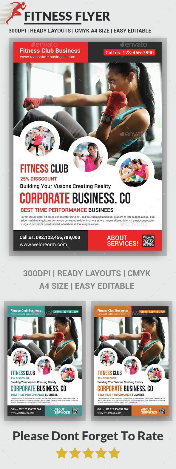 Fitness Flyer Template PSD. Download here: http://graphicriver.net/item/fitness-flyer/14617364?ref=ksioks