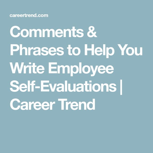 The  Best Self Evaluation Employee Ideas On