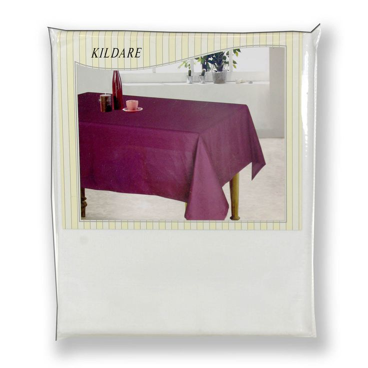 """White """"Kildare"""" Tablecloths Table Runners Table Coverings Placemats & Coasters Napkins"""