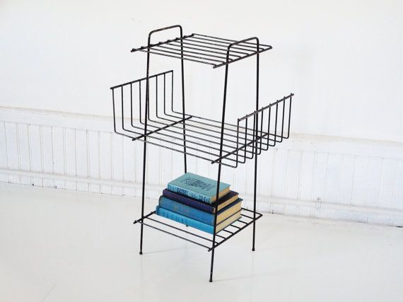 MidCentury Magazine Rack by thewhitepepper on Etsy, $74.00
