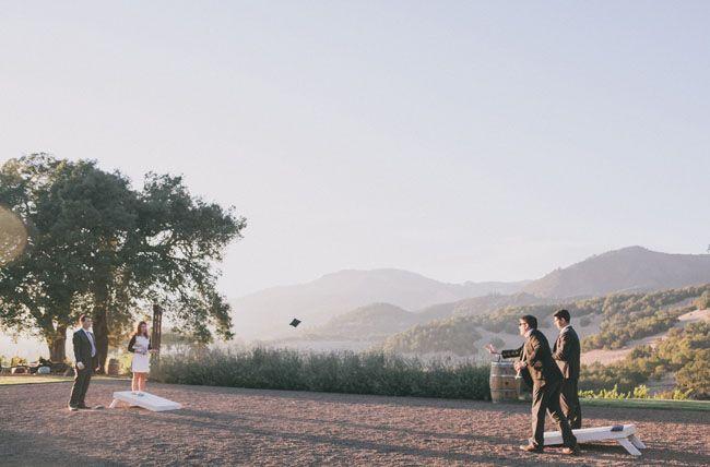 Reception games #kundefamilyestate #sonomavalley #weddings
