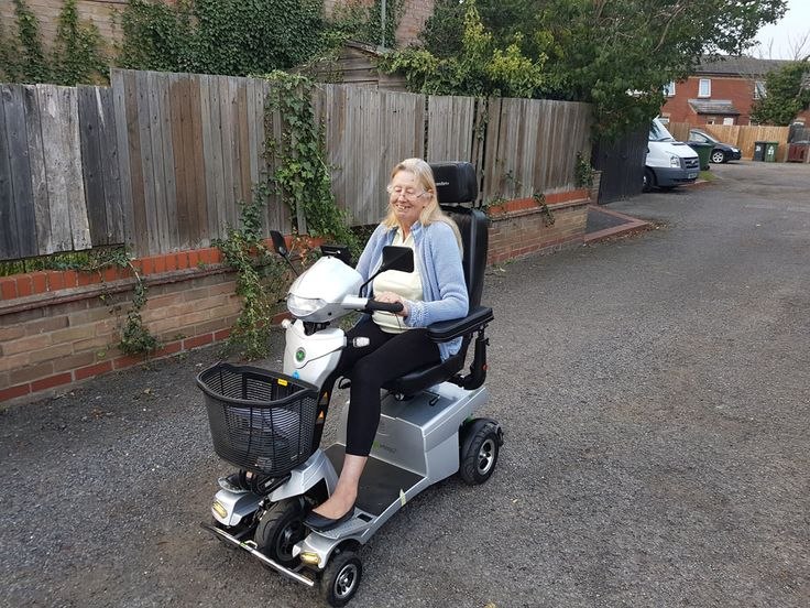 Mrs Clarke is delighted with her Vitess 2 mobility scooter get your demo here http://contact.quingoscooters.com/social-mobility-scooters/