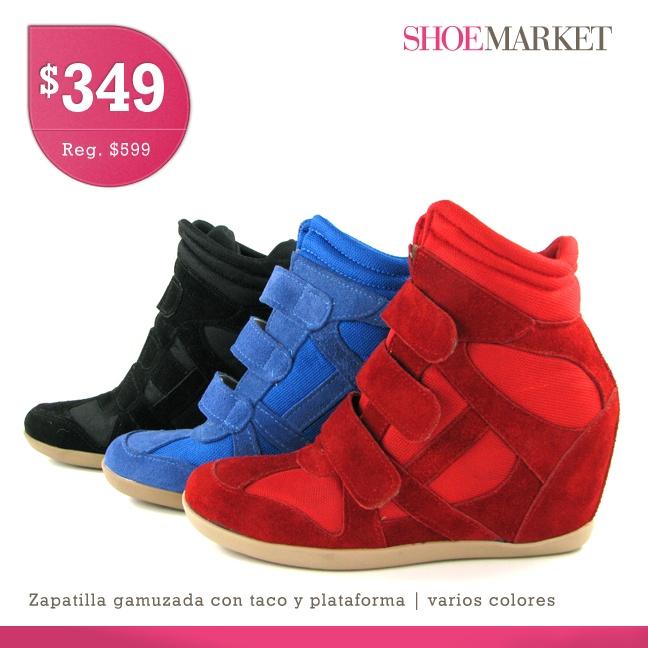 """Estos son los """"clasicos"""" sneakers gamuzados con taco escondido. La comodidad de una zapatilla con la postura y caminar de los tacos. Son la última moda en calzado moderno esta temporada de invierno!. https://www.facebook.com/shoemarket.ar"""