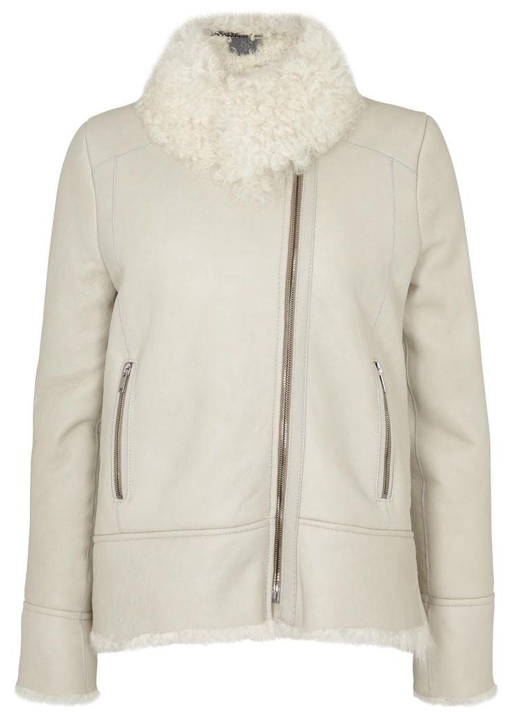 Ecru shearling biker jacket - Jackets - All Clothing - Women