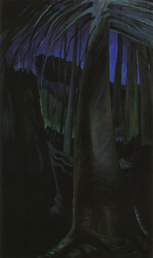 Emily Carr, Old Tree at Dusk, c. 1936, Oil on canvas, 112 x 68.5 cm, McMichael Canadian Art Collection, Kleinberg, Ontario.
