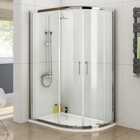 900x1200mm - 6mm - Elements Offset Quadrant Shower Enclosure [PT-GQB1290] - £279.99 : Platinum Taps & Bathrooms