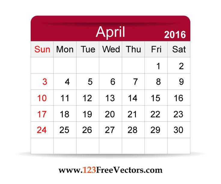 17 Best ideas about April Calender on Pinterest   Calendar design ...