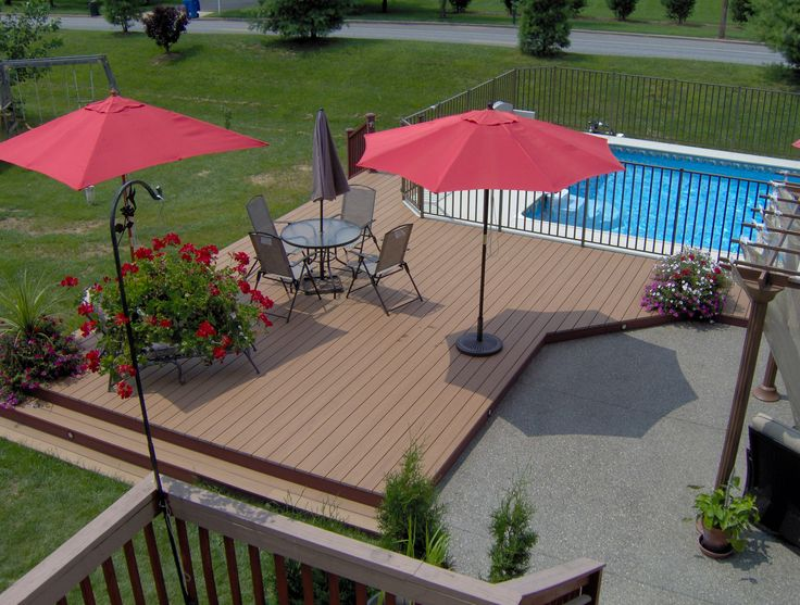 Trex Deck Around Pool And Patio Patio Deck Builders