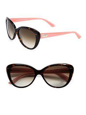 Kate Spade New York Angelique Two-Tone Plastic Cat's-Eye Sunglasses