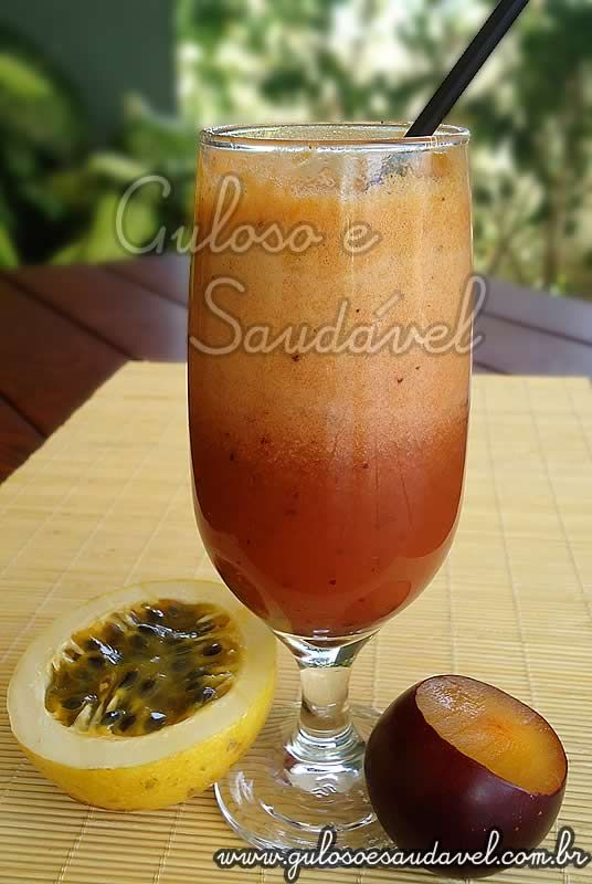 Suco de Ameixa e Maracujá » Bebidas, Receitas Saudáveis » Guloso e Saudável