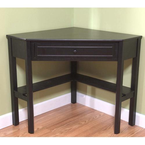 Corner writing desk writing desk and vanities on pinterest - Corner table walmart ...