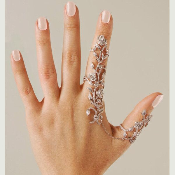 jewels floral floral ring ring crystal reed finger rings full finger fing silver ring