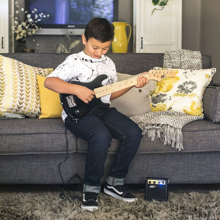 Get ready to rock! This kid's electric guitar set has everything little rockstars need right out of the box. Whether you're just learning the basics or you've m