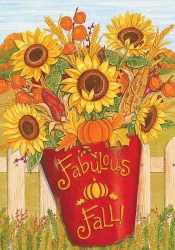 Custom Decor Flag - Fabulous Fall Decorative Flag at Garden House Flags at GardenHouseFlags