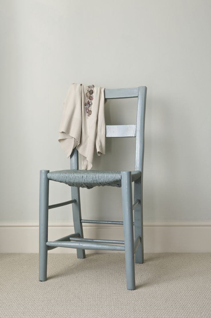 Chair in Farrow & Ball's Oval Room Blue