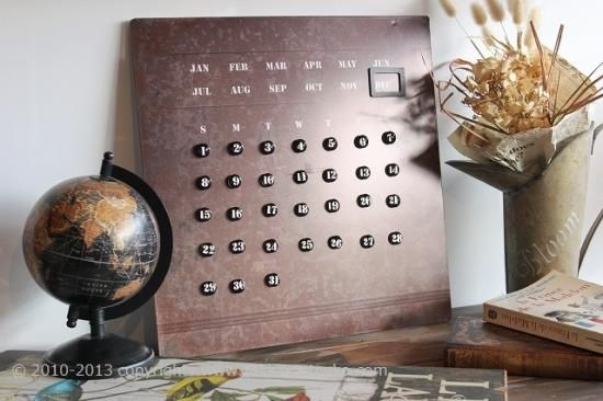 万年カレンダー|壁掛けカレンダー(アンティークアイアン) - 雑貨通販|zakka Petanko