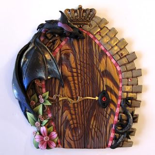 Clayworks by Kim Detmers Sleeping Beauty & Best 23 Polymer Clay Fairy Doors images on Pinterest | Fairies ...