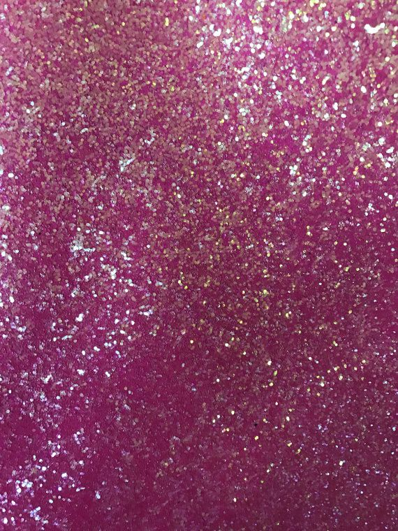 Chunky Bubblegum Neon Pink Glitter Fabric Sheet by OliverAndMay