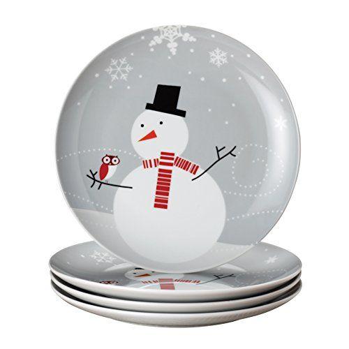 Rachael Ray Dinnerware Little Hoot and the Snowman 4-Piece Dessert Plate Gift Set Rachael Ray http://www.amazon.com/dp/B0093JWH9Q/ref=cm_sw_r_pi_dp_P86Eub063KCTB