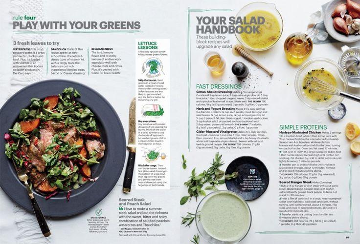 Christina Holmes for Self Magazine, June 2014. Salad Rules. Seared Steak and Peach Salad.