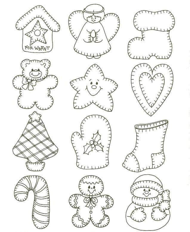 Christmas Ornaments Coloring Page Cutout Template En 2020