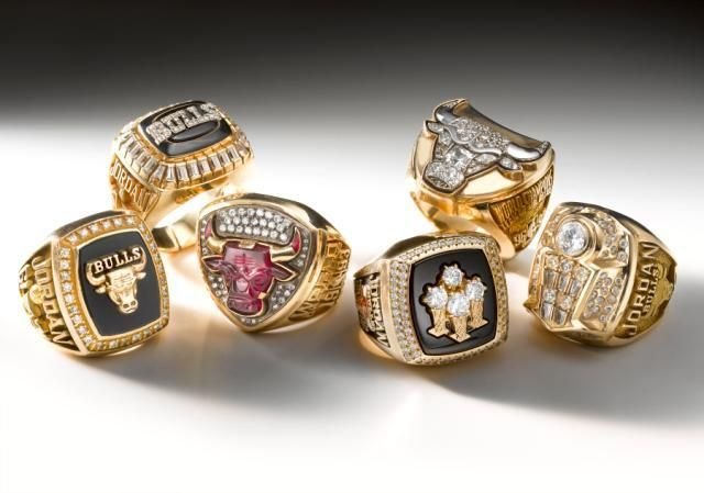 Six Chicago Bulls Championship rings