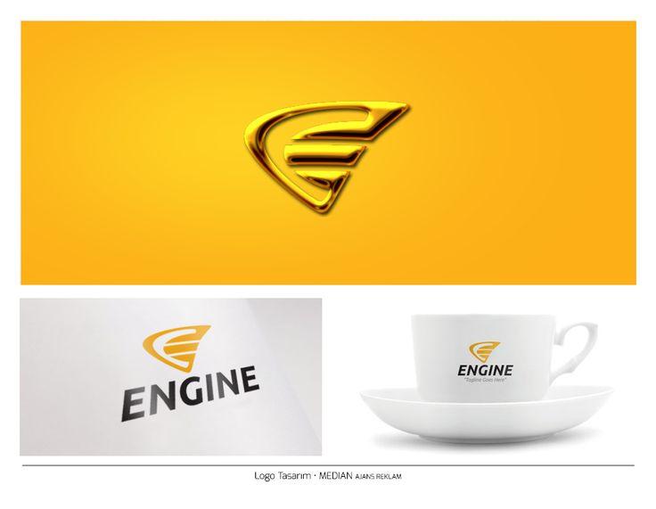Unique Letter E Logo - Branding Mockup