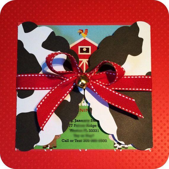 Farm Invitations / Barnyard Birthday Invitations / by MiamiCrafts