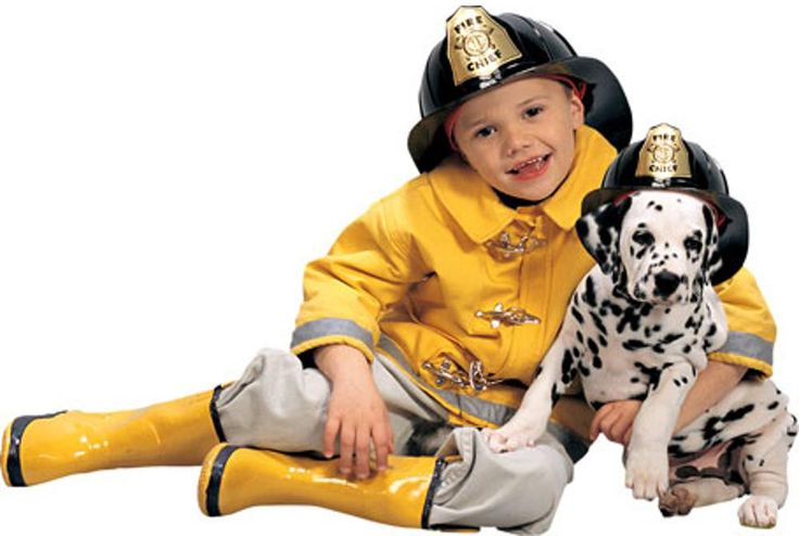 Child Fireman Costume Set
