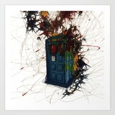 Tardis Abstract Art Print