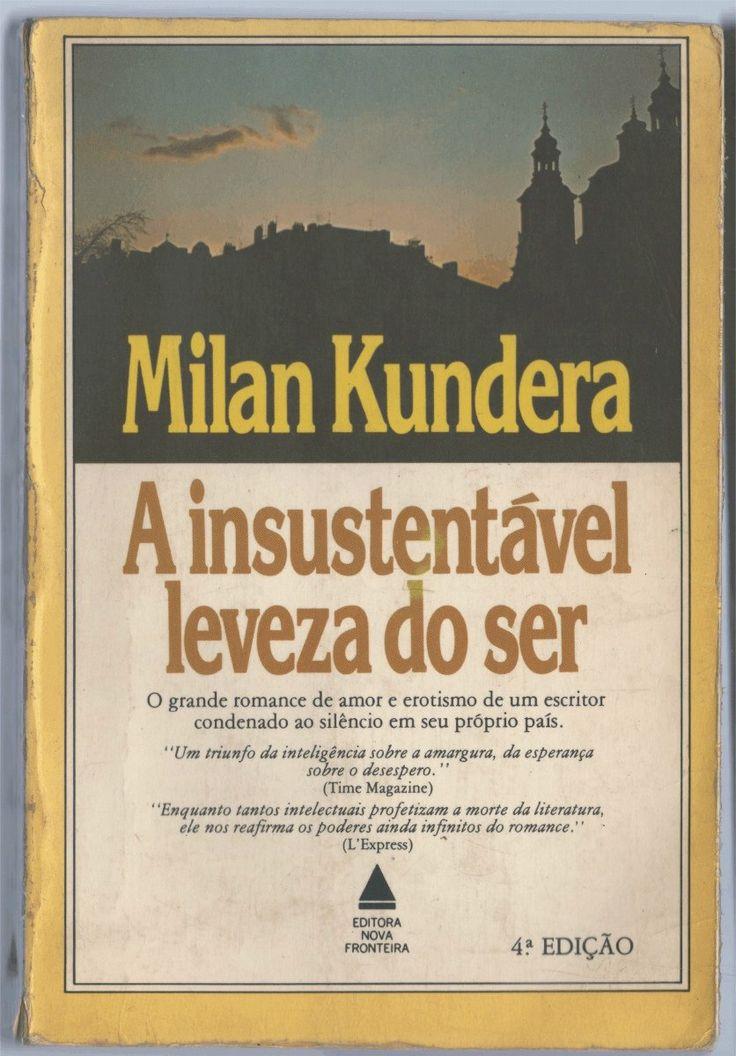 A Insustentável Leveza Do Ser - Milan Kundera Descubra a biografia de 25 Lendas da Literatura neste E-Book Gratuito em http://mundodelivros.com/e-book-25-escritores-que-mudaram-a-historia-da-literatura/