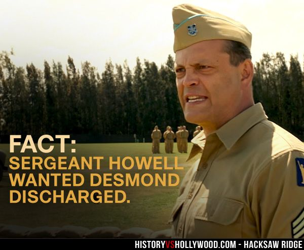 Vince Vaughn As Sergeant Howell Hacksaw Ridge Desmond Doss Medal Of Honor
