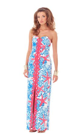 Angela Strapless Sweetheart Maxi Dress
