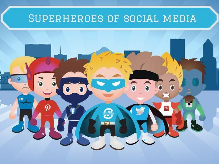 Click to see the #infographic Superheroes of Social Media. Which hero of social media do you identify with? What would other social media superheroes look like? See their powers. #marketing #crosspromotions #marketingpartnership #partnershipmarketing #togethermarketing #ecommerce #digitalmarketing