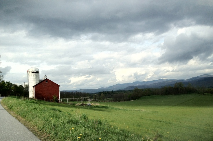 outside Brandon, VT. The road to our house.