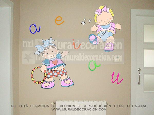 #muralesinfantiles, #decoracionmural, #decoracionbebe, #muralesmadrid,#decoracion,#dormitoriosinfantiles,murales infantiles para bebé www.muralcoraciones.com