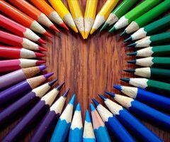 colored pencil heart