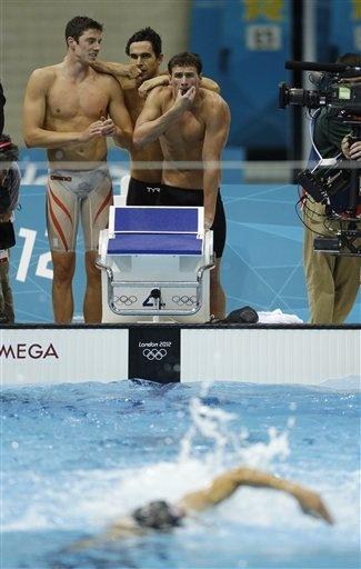 Ryan Lochte Conor Dwyer Ricky Berens Michael Phelps