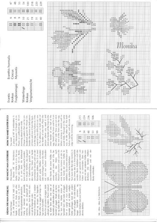 152 fantastiche immagini su idee punto croce pasqua su for Immagini punto a croce