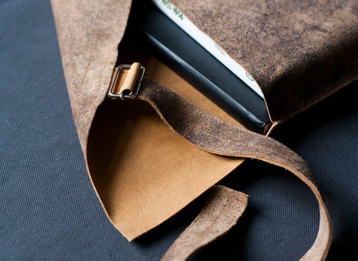 Obwoluta/ okładka na książkę. #accessories #LeatherAccessories #suede  #leatherbookcover #leatherbook