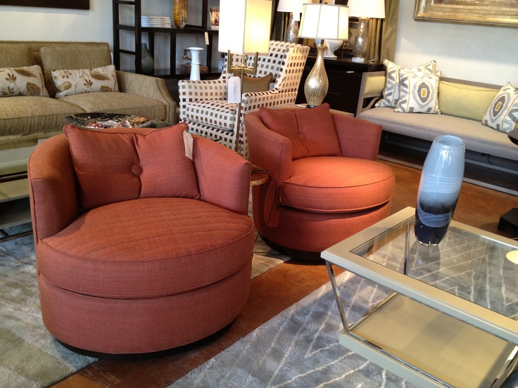 Swivel Chairs For Living Room, Nice Cinnamon Color