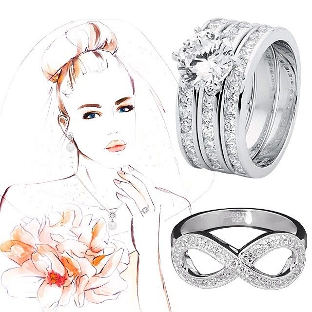 If you're a bride on a budget try the gorgeous range of Georgini jewellery, like these stirling silver & zirconia beauties - wedding ring 3 piece set just $269. Available #fromthomas in store or online www.thomasjewellers.com.au #thomasjewellers #ilovethomas
