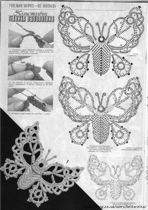 Mariposas crochet patron | Amigurumi | Pinterest | Crochet and Google