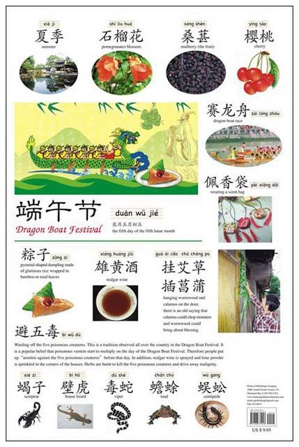 Chinese Festivals Wall Chart (Simplified Character) | Chinese Books | Learn Chinese | Posters | ISBN 9781606331422 9781606331729 9781606331736 9781606331743 9781606331712 9781606331705