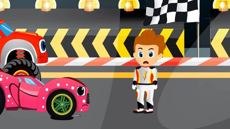 Blaze Car Monster Machines Super Cars Racing On The Streets For Children